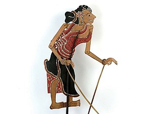 Condong - A condong figure in wayang kulit (before 1900)