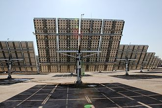 Solar tracker - 3-megawatt CPV plant using dual axis trackers in Golmud, China