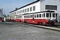 CP 9600 Series railcar, at Porto Boavista depot, in 1977.jpg