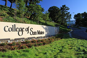 College of San Mateo - Entrance to the College of San Mateo