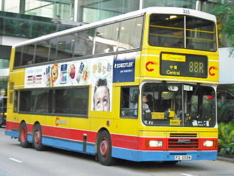 Leyland Olympian - Citybus's Alexander bodied Olympian in Hong Kong in August 2008
