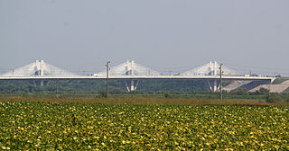 New Europe Bridge road and rail bridge between the cities of Calafat, Romania and Vidin, Bulgaria