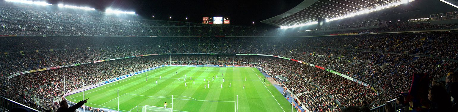 Vue panoramique du Camp Nou
