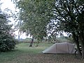 Camping Wittenberg. In the background left the church tower of Wittenberg, on the other side of the Elbe. Sachsen-Anhalt, Germany. - panoramio.jpg