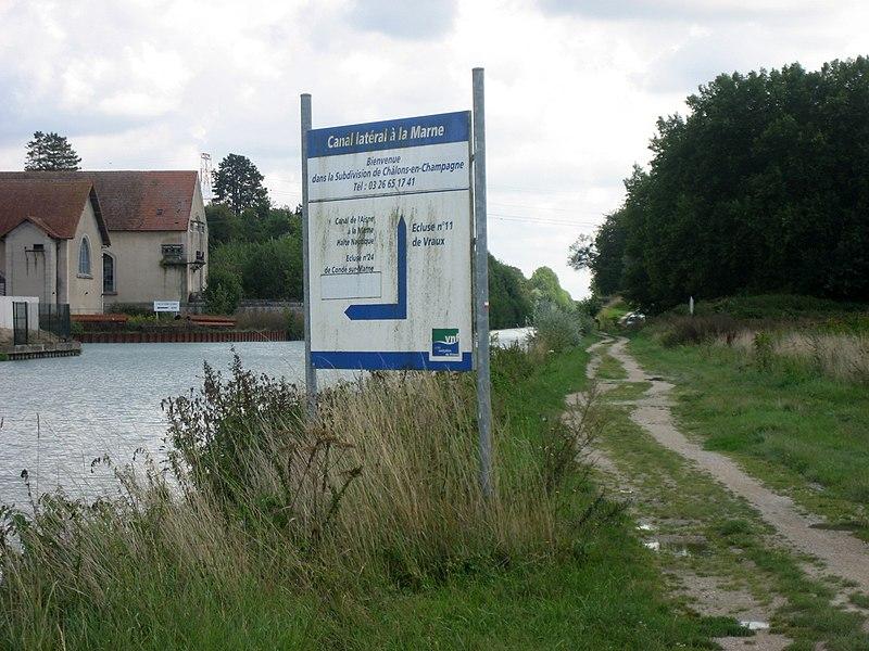Canal latéral à la Marne,  Canal de l´Aisne à la Marne