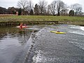 Canoeists on Northenden Weir - March 2006 - geograph.org.uk - 354104.jpg