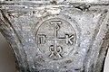Capitello del patrizio leone, con monogramma di cristo a croce, dalla basilica di san nicola, xi secolo 02.jpg
