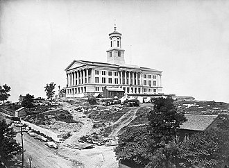 Tennessee State Capitol - Tennessee State Capitol during the Civil War.  Photo by George N. Barnard.