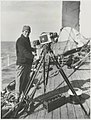 Captain Frank Hurley with a camera on board the Discovery, circa 1931 - Frank Hurley (26544172348).jpg