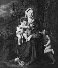 Jomfru Maria med Jesusbarnet og den lille Johannes