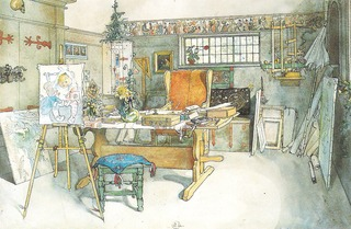 The Studio. From A Home (26 watercolours)