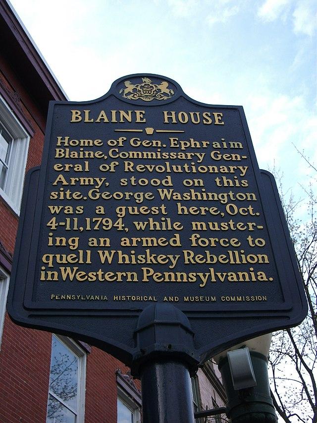 Photo of George Washington blue plaque