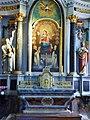 Carnac.- Eglise St Corneyl (Autel, retable,- la Vierge mère, sainte Anne et la Vierge, saint Joachim).jpg