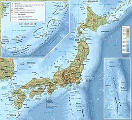 japán domborzati térkép Japán földrajza – Wikipédia japán domborzati térkép