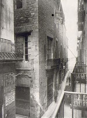 Casa Padellàs - The building in its original location