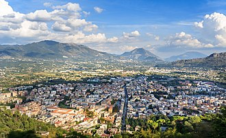Cassino - The town of Cassino from the upper part of the town.
