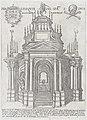 Catafalque for Duke Alessandro Farnese; from 'Libro De Catafalchi, Tabernacoli, con varij designi di Porte fenestre et altri ornamenti di Architettura' MET DP874852.jpg