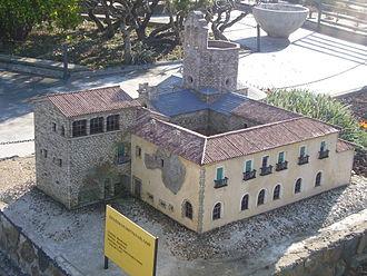 Sant Pau del Camp - Scale model of Sant Pau del Camp, at the Catalunya en Miniatura park