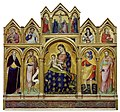 Catarino Veneziano - Madonna and Child, the Crucifixion, and Saints - Walters 37635.jpg