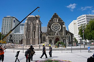 2011 Christchurch earthquake - Image: Cathedral Square 2402