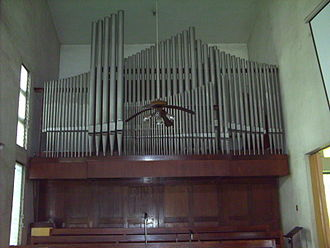 Episcopal Church in the Philippines - Choir Pipe Organ (inoperative) of the National Cathedral of the Episcopal Church in the Philippines, dedicated to Saint Mary and Saint John.