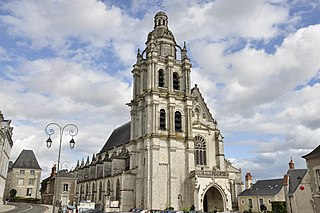 Blois Cathedral Church in Centre-Val de Loire, France
