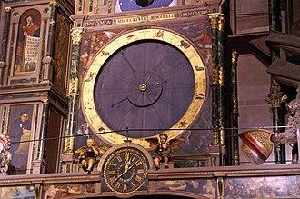 Strasbourg astronomical clock - Image: Cathedrale de Strasbourg Horloge Astronomique Details (1)