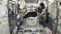 Catherine Coleman plays Paddy Maloney's tin whistle in the Space Station.jpg