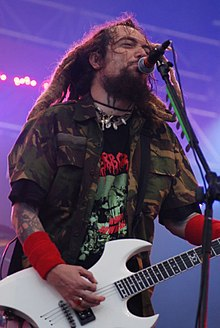 Cavalera performing with Cavalera Conspiracy at the Eurockéennes festival in France, 2008
