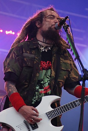 Max Cavalera - Performing with Cavalera Conspiracy at the Eurockéennes festival in Belfort, France on July 5, 2008