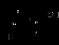 Strukturformel des Cedrols
