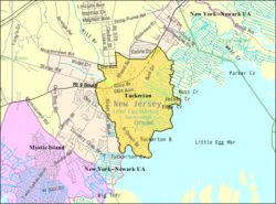 Censoburoo-mapo de Tuckerton, Nov-Ĵerzejo