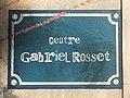 Centre d'hébergement Gabriel Rosset (Lyon) - fausse plaque.JPG