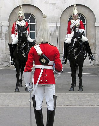 Life Guards (United Kingdom) - Image: Ceremony.lifeguard.l ondon.arp.new