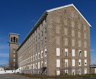 Fall River granite - Chace Mills, built 1871 from native Fall River granite