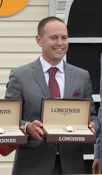Chad Brown (horse trainer) - Brown after winning the 2017 Preakness Stakes