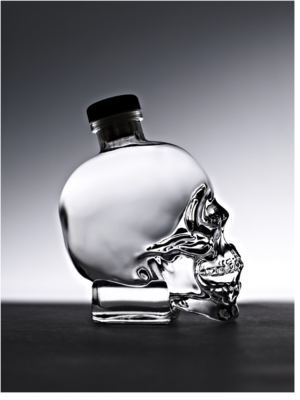 Crystal Head Vodka - The Crystal Head Vodka bottle