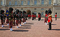 Changing of the Guard at Buckingham Palace (14752804365).jpg