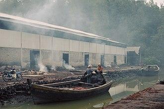Kuala Sepetang - Charcoal factory, Kuala Sepetang