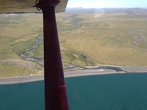Project Chariot - Aerial shot of Chariot, AK looking to the east