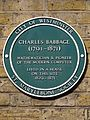 Charles Babbage (1791-1871) mathematician & pioneer of the modern computer lived in a house on this site 1839-1871.jpg