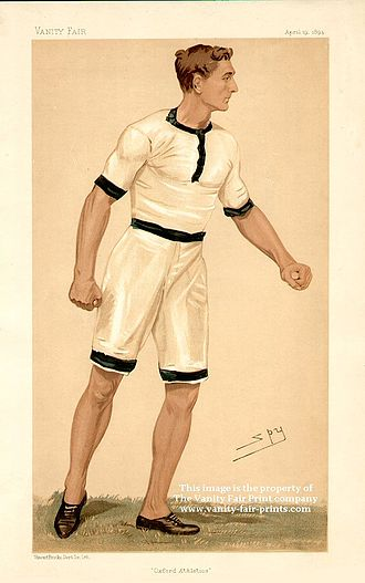 C. B. Fry - Fry caricatured by Spy for Vanity Fair, 1894