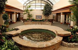 Charles C. Carson Center for Mortuary Affairs - Atrium of the Center
