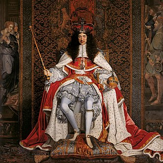 Restoration literature - The English monarchy was restored when Charles II of England (above) became king in 1660.
