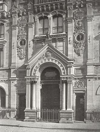 Lycée Chaptal - Main portico