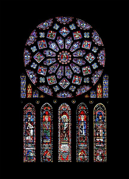 North transept rose window at Chartres Cathedral