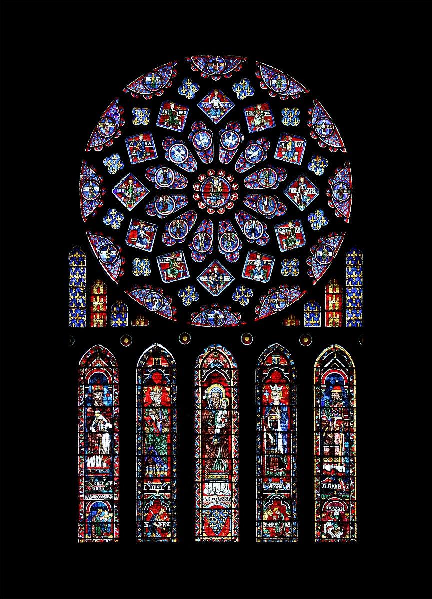 קובץ:Chartres - cathédrale - rosace nord.jpg