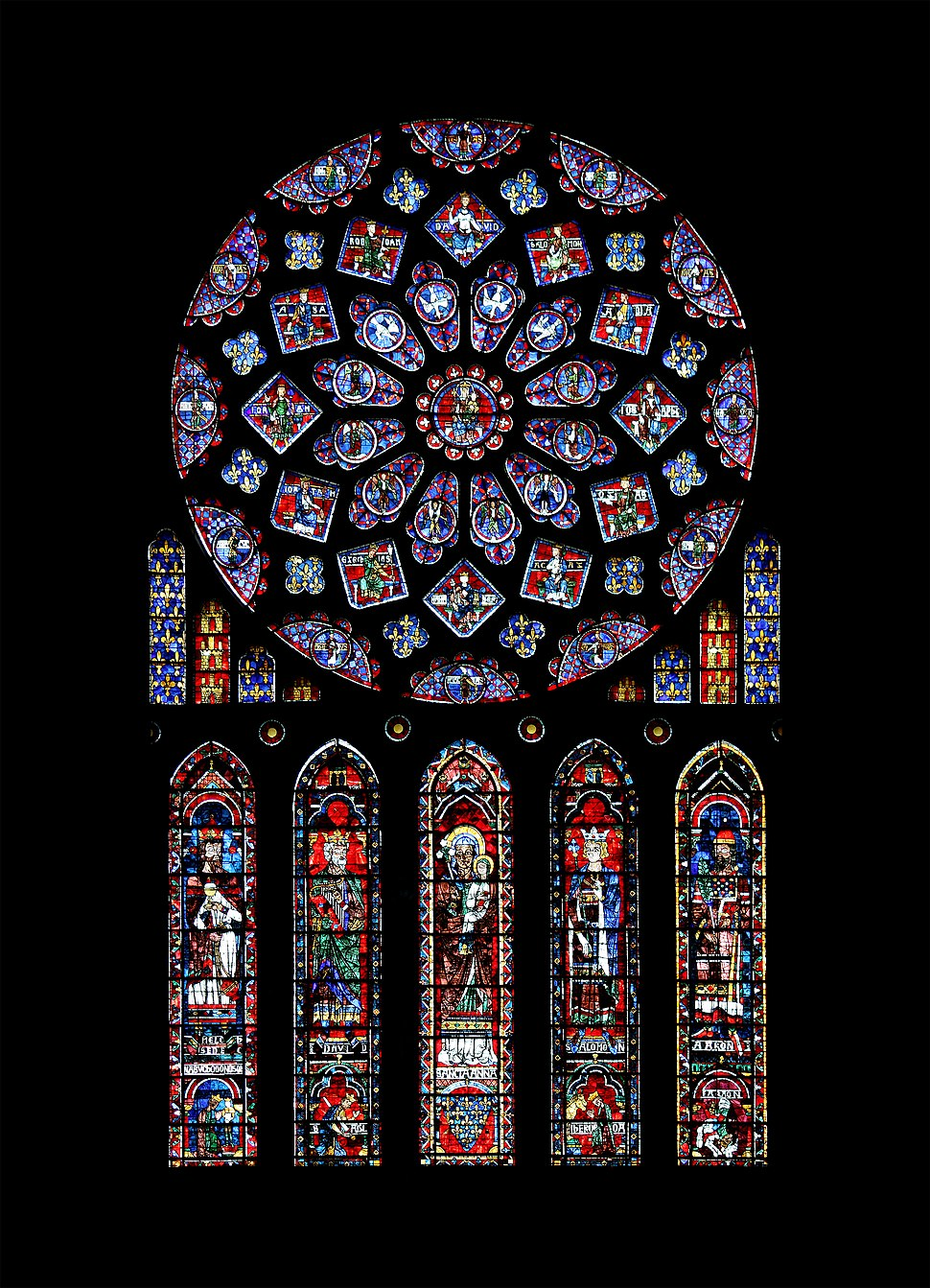 Chartres - cathédrale - rosace nord