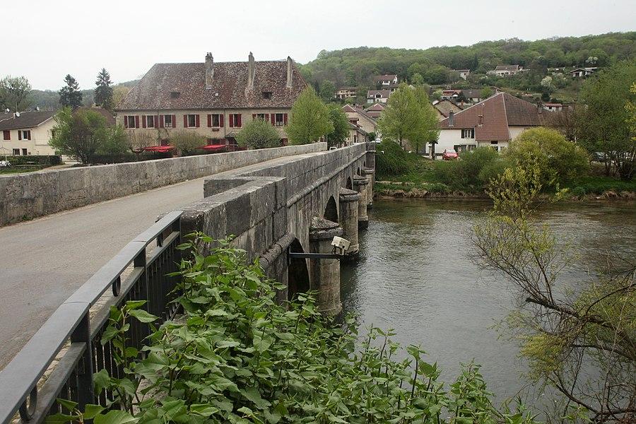 Vue de Chenecey-Buillon (Doubs).