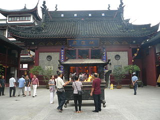 City God Temple of Shanghai building in Shanghai, China